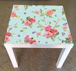 Remarkable Details About Shabby Chic Vinyl Sticker Suitable For Ikea Lack Table Coffee Table Lk20 Best Image Libraries Sapebelowcountryjoecom