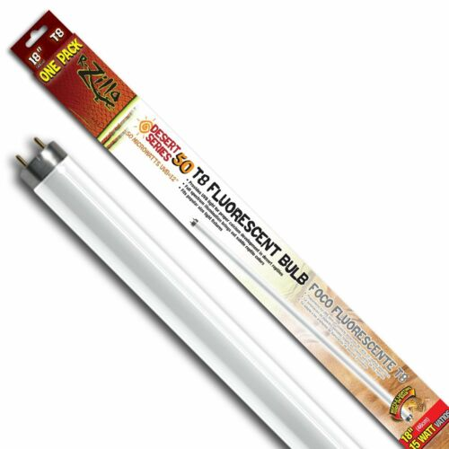 Zilla 11840 18-Inch Desert 50 UVB T8 Fluorescent Bulb 15-Watt New Free Shipp