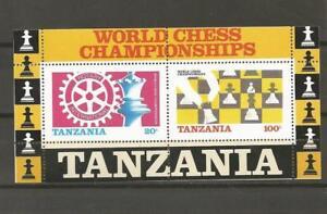 TANZANIA-1986-World-Chess-Championships-Rotary-MUH-MINIATURE-SHEET