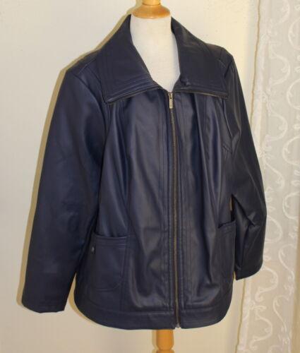 Dennis Sz élégant marine en 2x bleu manteau synthétique Basso veste de cuir Manteau la rnxRUrT