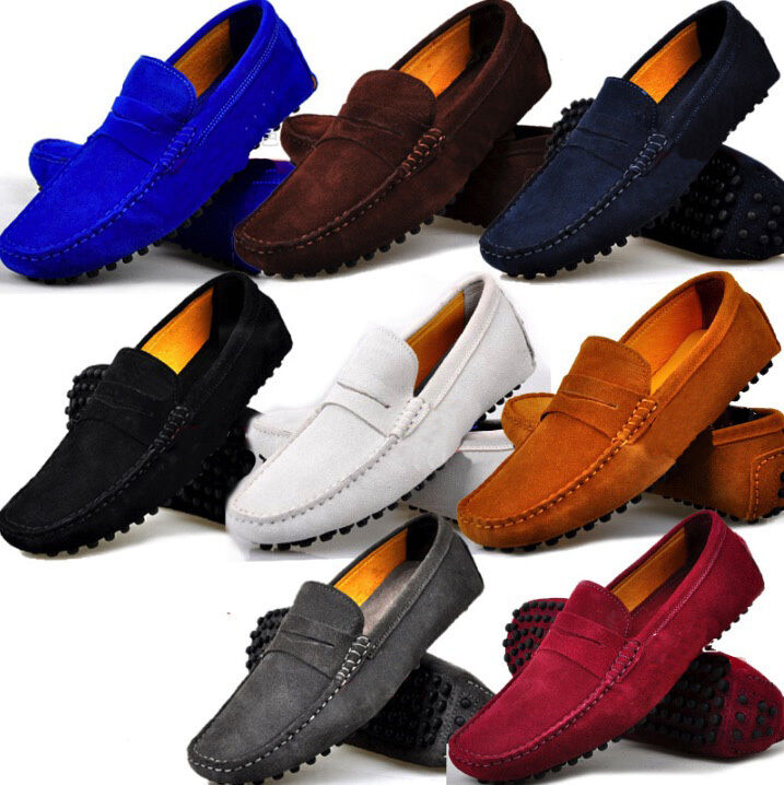 Fulinken Size 5-12 New Leather Slip On Penny Loafer Mens Casual Driving shoes