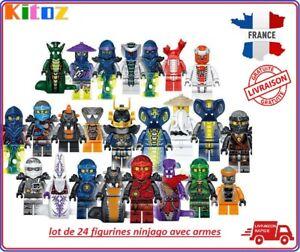 24-figurines-Ninjago-Fantome-Mal-Ninja-Pythor-Chop-039-rai-Mezmo-cole-jay-kai