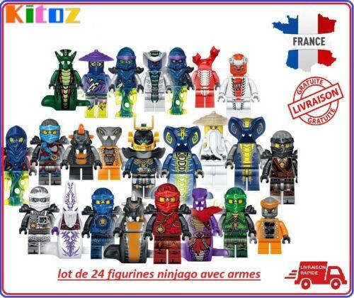 24 figurines Ninjago Fantôme Mal Ninja Pythor Chop/'rai Mezmo cole jay kai