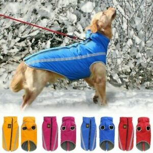 USA-Reflective-Fleece-warm-pet-DOG-Coat-Winter-Jacket-Clothes-Sweater-Waterproof