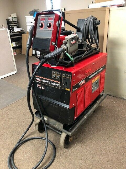 Mig Welder For Sale >> Lincoln Power Wave 455m Stt Advanced Mig Welding Welder W Power Feed 10m Feeder