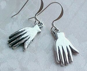 Ended-amp-RELISTED-1-8-Human-Hand-Earrings-Amulet-Silver-Frida-Kahlo-Fortune-Teller