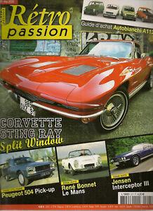 Retro Passion 207 Corvette Sting Ray 1963 Rene Bonnet Le Mans 504 Pick-up Jensen Gagner Les éLoges Des Clients