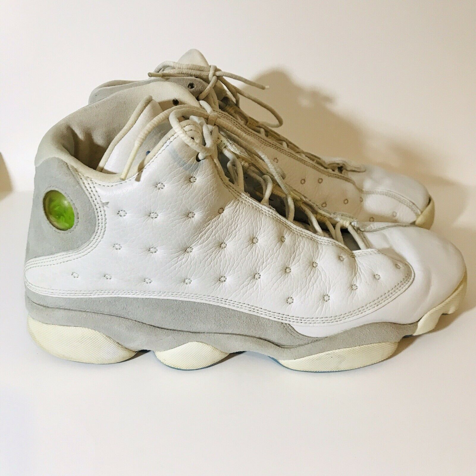 Nike Air Jordan 13 Retro Sz 12 White Flint Grey University bluee 310004-103 2004