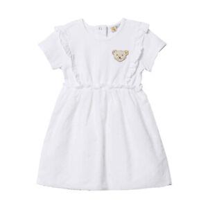 online store 3ede5 c2fc6 Details zu STEIFF® Baby Mädchen festliches Kleid Weiß Bär 68-86 Sommer 2019  NEU!