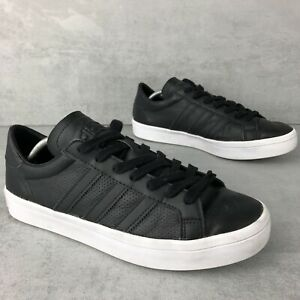 Adidas-Court-Vantage-Size-UK6-5-EU40-US7-Black-Leather-Men-039-s-Retro-trainers-VGC