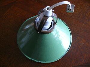 Raritaet-Original-Jugendstil-Email-Lampe-Deckenlampe-Schusterlampe-gruen-ca-1920