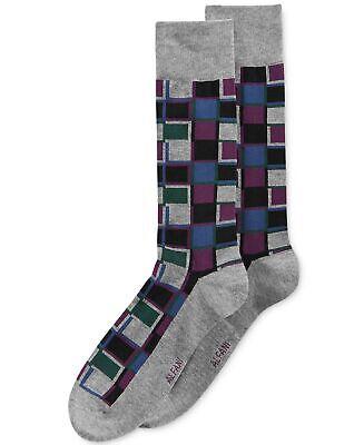 Cobalt//Storm Blue//Pumpkin, 10-13 Alfani Spectrum Dress Socks Set Of 3