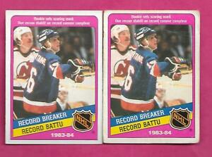 2-X-1984-85-OPC-392-ISLANDERS-PAT-LAFONTAINE-RB-ROOKIE-CARD-INV-C1947