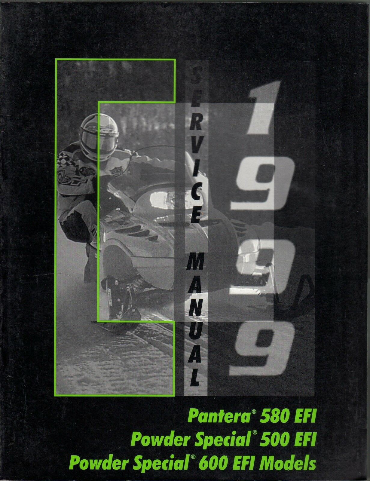 1999 ARCTIC CAT PANTERA, POWDER SPECIAL 500 EF P N 2255-941 SERVICE MANUAL (809)