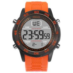 Smael-MEN-039-S-50M-Impermeabile-Sport-orologi-militari-LED-digitale-orologio-cronografo