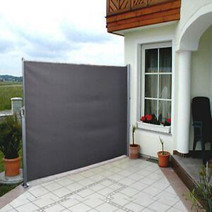 Image Is Loading Side Awning Blind Patio Garden Balcony Sunshade Screen