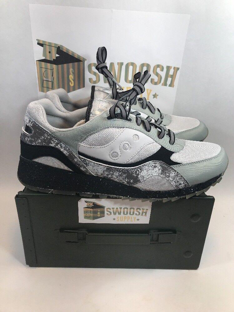SAUCONY SHADOW 6000 NEW Größe 13 EXTRA BUTTER MOON WALKER WALKER WALKER Silber schwarz 70144-1 379641