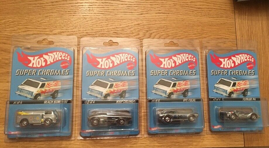 HOT WHEELS REDLINE COLLECTORS MODEL. ONLINE EXCLUSIVE. SUPER CHROMES SERIES.