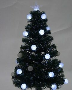 image is loading green 120cm 4ft fibre optic christmas tree with