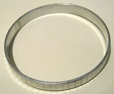 Very pretty silver tone bangle style bracelet with criss cross design/pattern