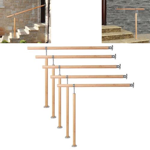 Handlauf Eingangsgeländer Geländer Griff Treppe Wandhandlauf Holzmaserung ø 42mm