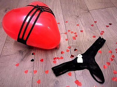 La SENZA DOMINATRIX Sexy Thong in Black Colour Valentine's Day