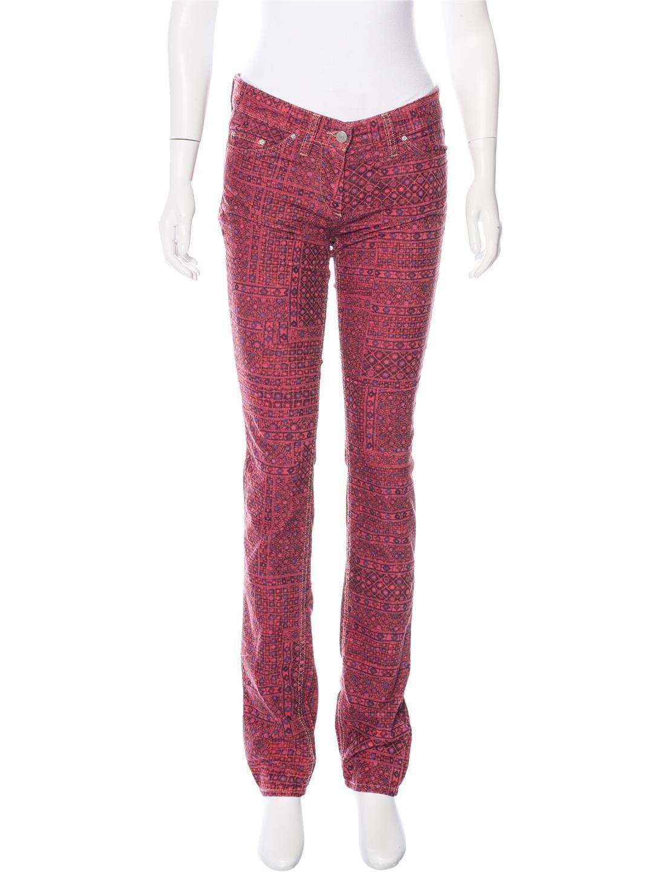 Etoile Isabel Marant Itzel Printed Corduroy Skinny Jeans Size 6 US NWT  370