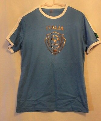 many styles new lower prices good out x Celio Tee T Shirt Italia Blue Size M NWT   eBay