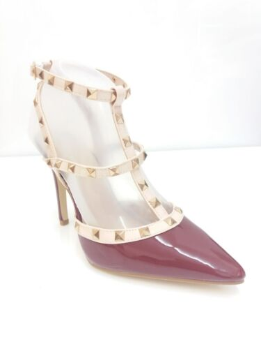 NEW LADIES STILETTOS POINTED TOE STUDDED HIGH FASHION COURT SHOES SIZE 3-8
