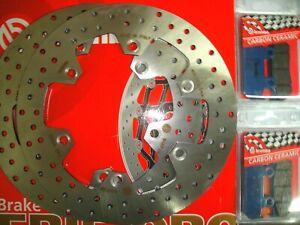 KIT 2 DISCHI BREMBO+PASTIGLIE ANTERIORI TRIUMPH 900 TIGER 1997 1998