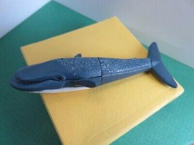 166 - Figurine - Baleine Bleu - Animal De La Mer - Assemblage Clip