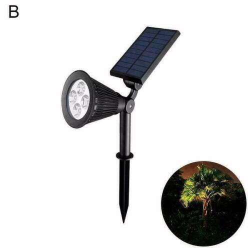 LED Solar Power Spot Lights RGB Color Garden Path Landscape Lamp Wall L2M1 S6Z6
