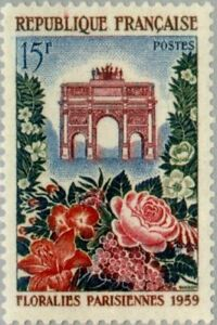 EBS-France-1959-Paris-Flower-Show-Floralies-Parisienne-YT-1189-MNH