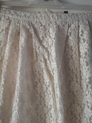 Ladies Cream Lace Skirt Size 14 Women's Clothing Clothing, Shoes & Accessories
