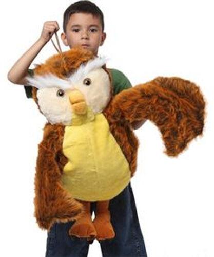NEW Kids Safari Wrap 'n' Ride Plush Owl Wings Costume - Bird Halloween Book Week