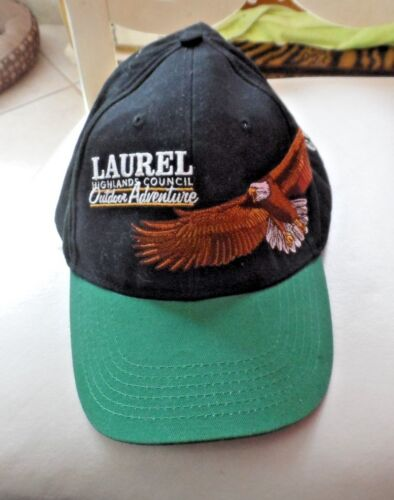 Laurel HIghland Council Outdoor adventure Ball cap hat with embroidered Eagle