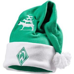 SV-Werder-Bremen-Weihnachtsmuetze-Nikolausmuetze-Weihnachtsmann-Logo-Fanartikel