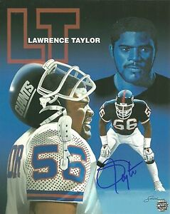 Lawrence-Taylor-Autographed-8x10-Photo-New-York-Giants-Hall-of-Famer-RP