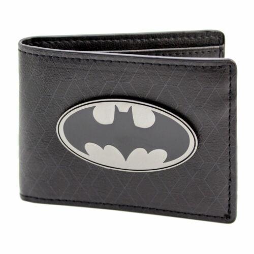 Official DC Comics Batman Bat Symbol Badge Black ID /& Card Wallet *SECOND*
