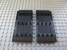 2 x Lego Black Stockade Door 1 x 5 x 7 1/2 No. 30223 Castle Knights Kingdom