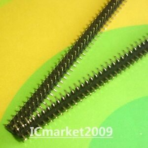 10 PCS 2x40 Pin 2.0mm SMD Male Double Row Pin Header Strip 2.0 pitch connector