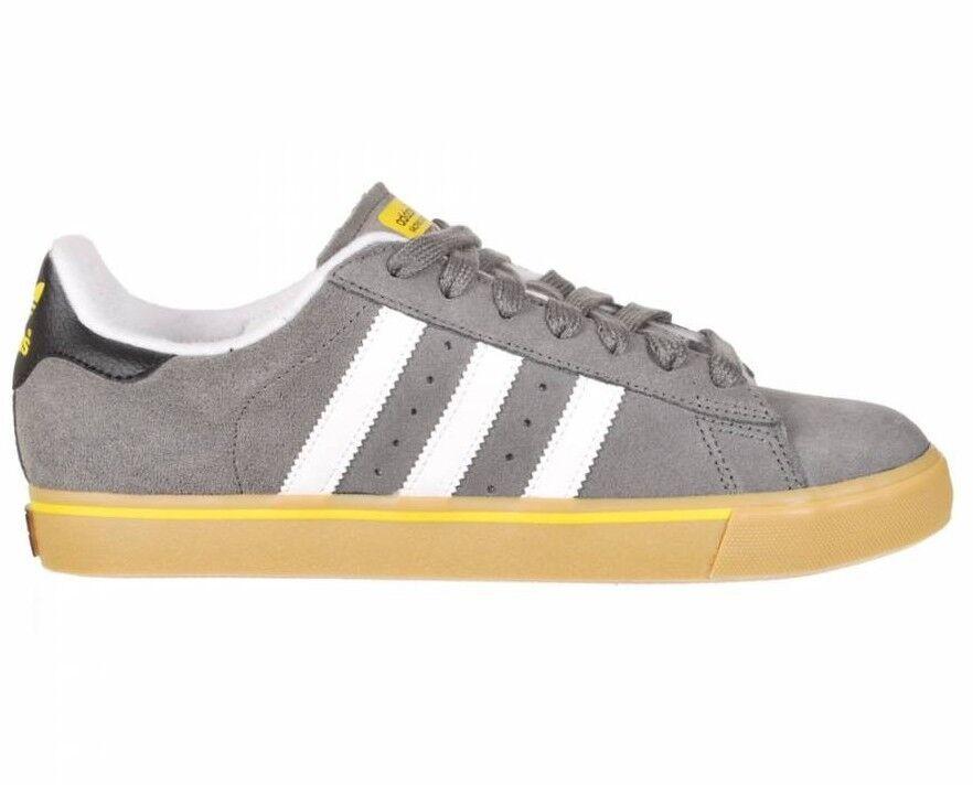 Adidas CAMPUS VULC Dark Midnight Cinder gris Yellow Skate (120) hommes Chaussures