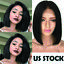 New-Virgin-Indian-Remy-Human-Hair-Bob-Lace-Front-Wig-Full-Lace-Pre-Plucked-Black thumbnail 1