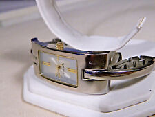 New Nine West Designer All Metal Womens Watch Fits 7 inch wrist. New battery too