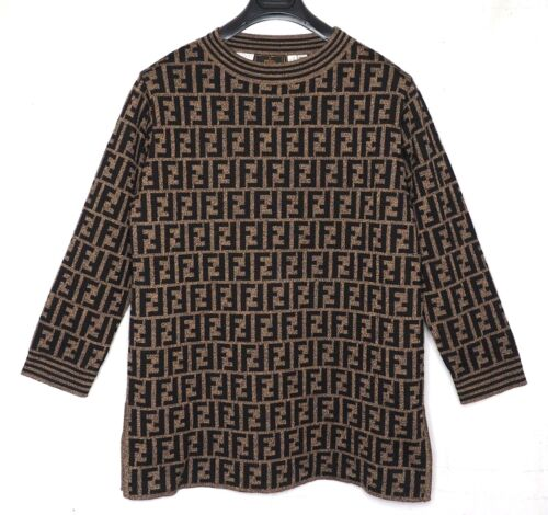 FENDI sweater zucca pattern monogram L US10 44 jum