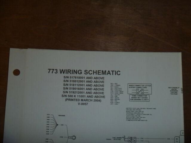 Bobcat 773 Skid Steer Electrical Wiring Diagram Schematic