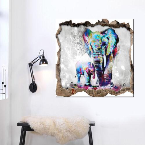 3D Wand Elefant Tier Natur Bild Leinwand Abstrakte Kunst Bilder Wandbilder D0852