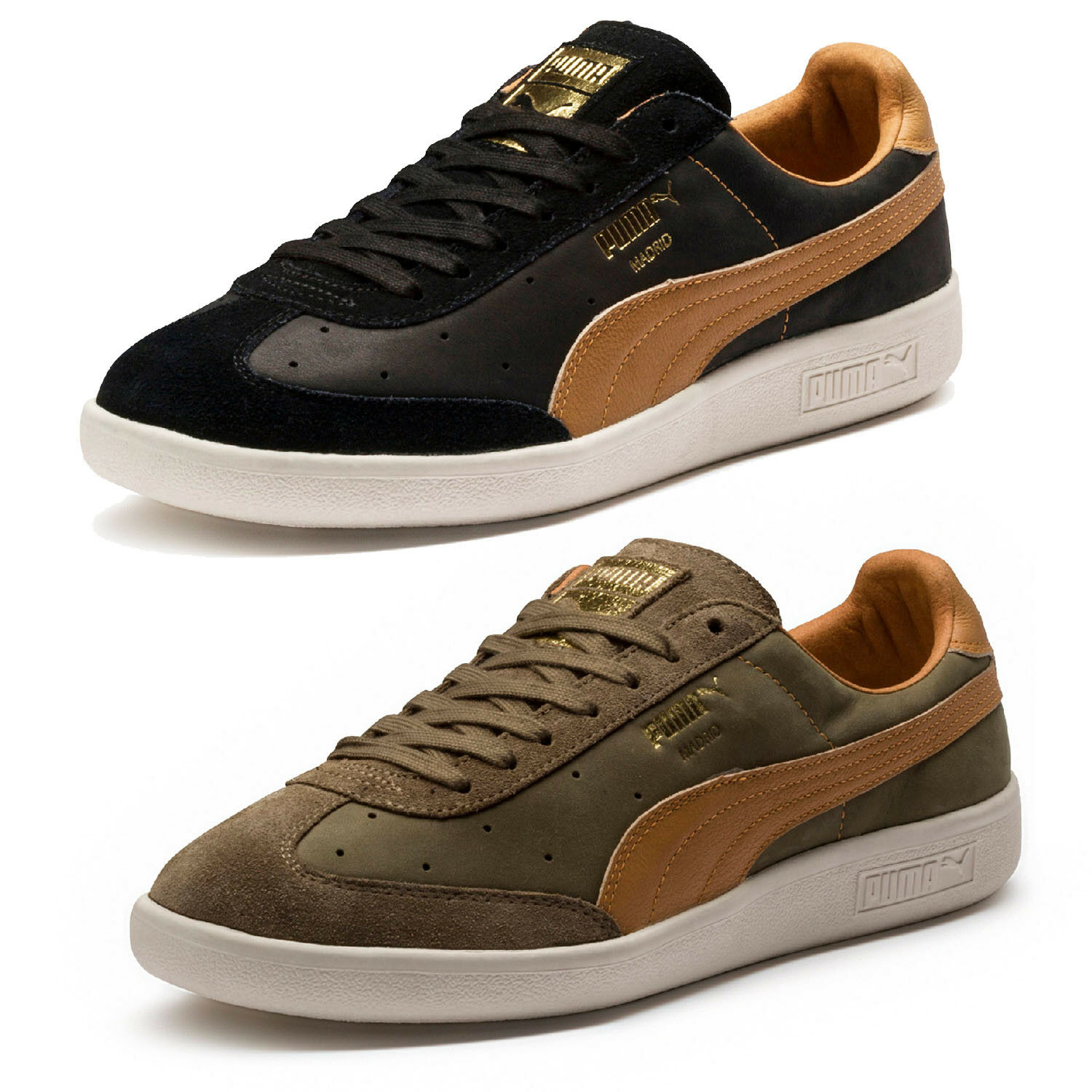 cb3dfd0c4a380c PUMA Madrid Tanned Trainers Green F02 42 for sale online