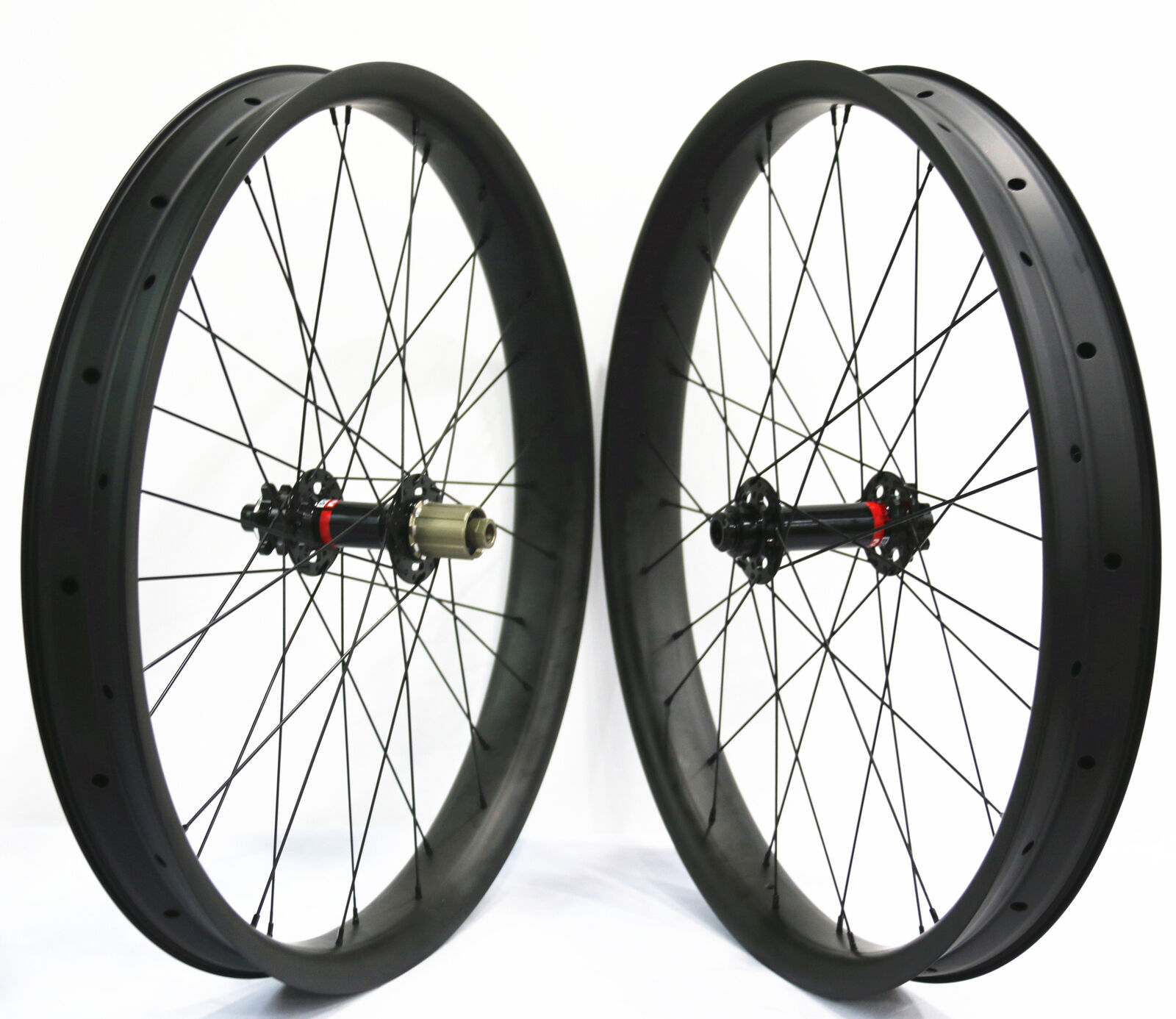 26er Fat Bike carbon Fiber wheelset 65mm wide Snow  Sand Bike wheels Novatec hub