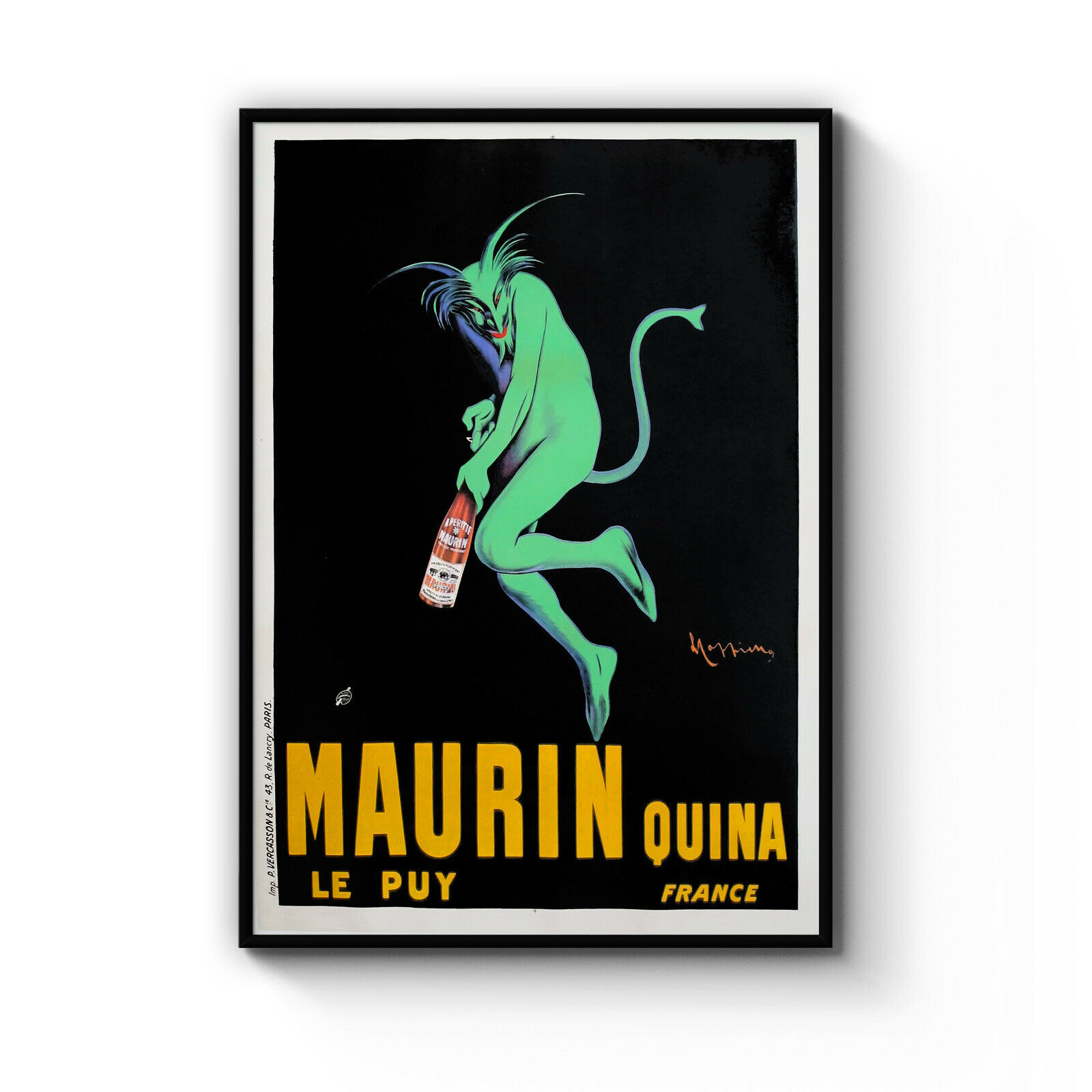 Vintage Maurin Quina Wine French Cafe Decor Art Poster Print  A4 - B1 Framed